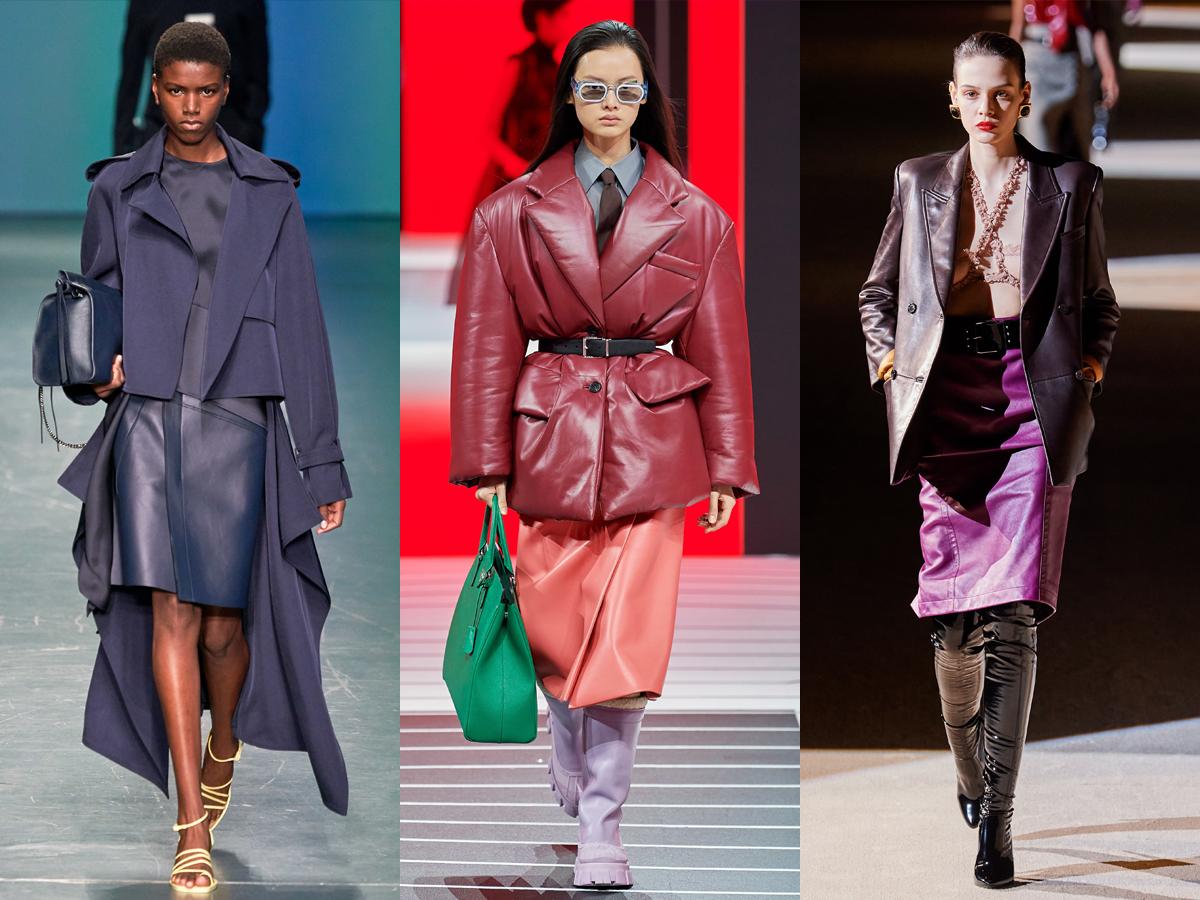 Chân váy da nhân tạo màu sắc nổi bật từ tuần lễ thời trang Thu - Đông 2020