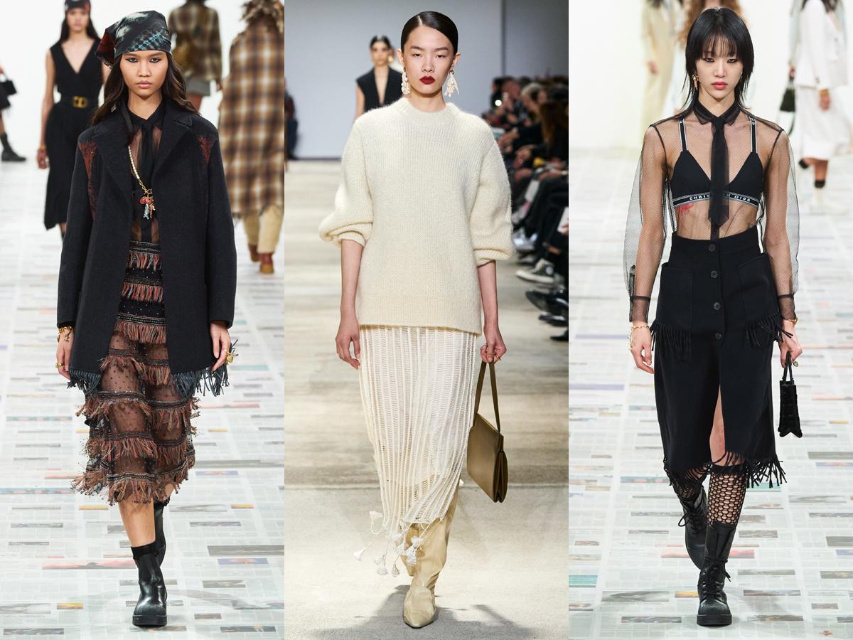 Các thiết kế có chi tiết tua rua nhỏ từ tuần lễ thời trang Thu - Đông 2020