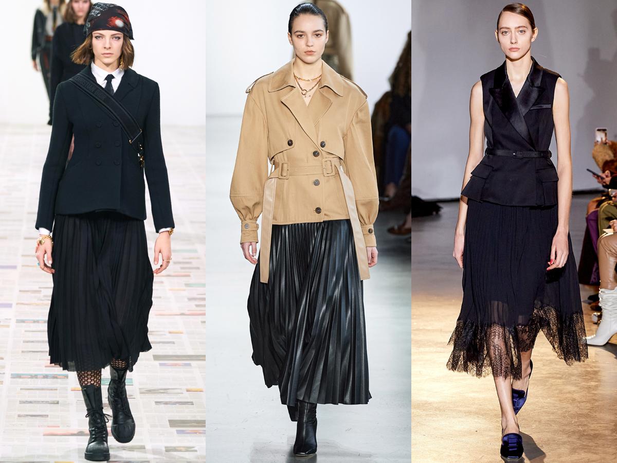 Các thiết kế xếp li từ tuần lễ thời trang Thu - Đông 2020