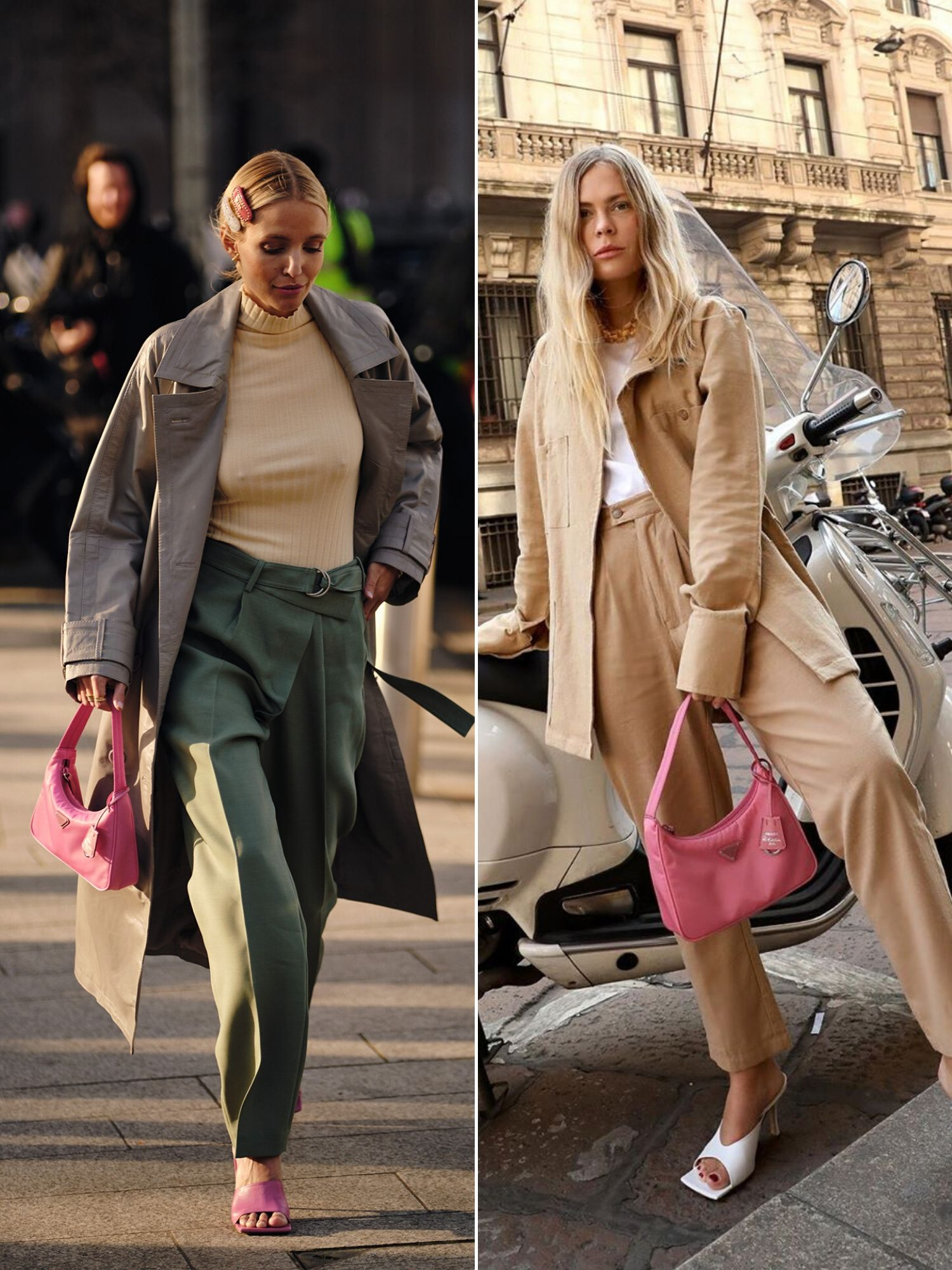 túi prada tuần lễ thời trang thu đông 2020 london milan