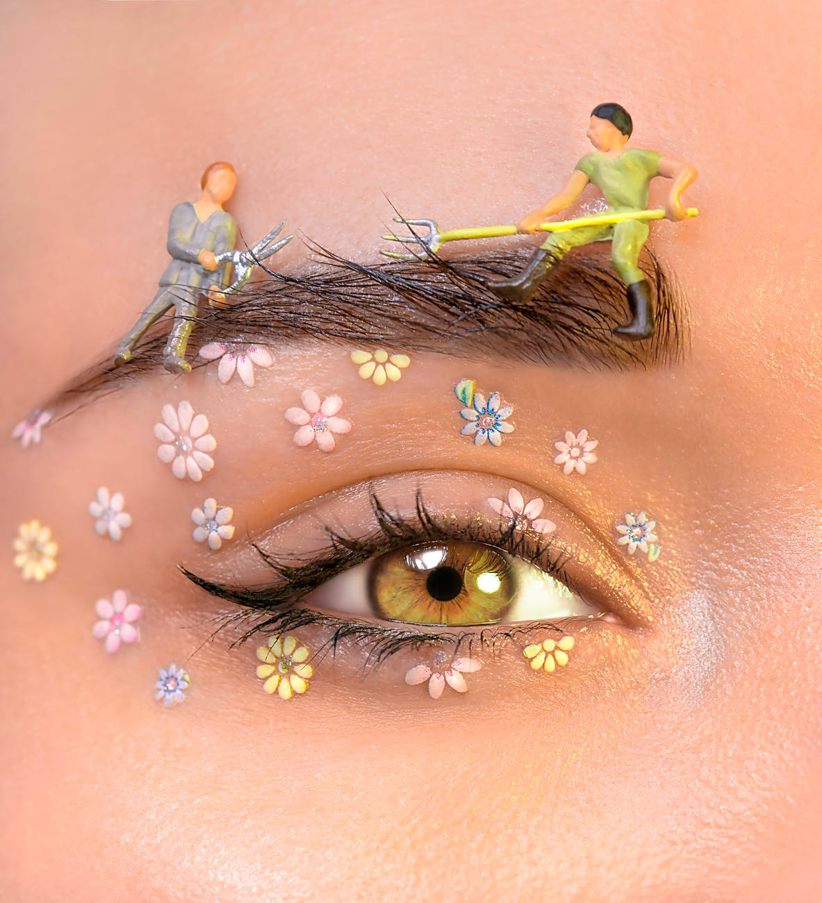 Trắc nghiệm-Mắt đính hoa.