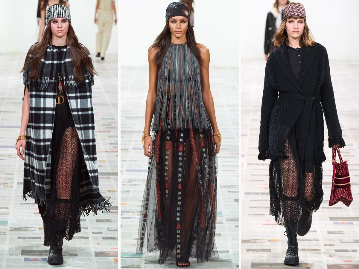 Các mẫu chân váy dài xuyên thấu trong BST Thu - Đông 2020 của Christian Dior