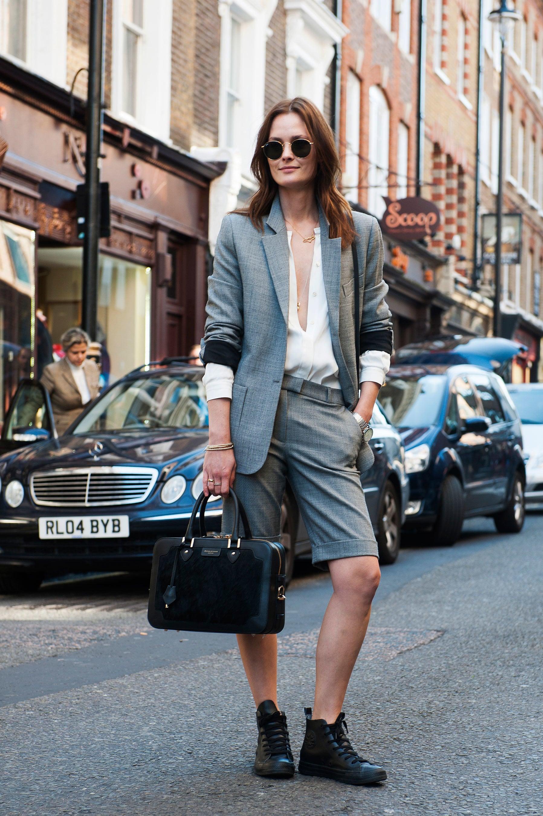 quần bermuda bộ suit ton sur ton