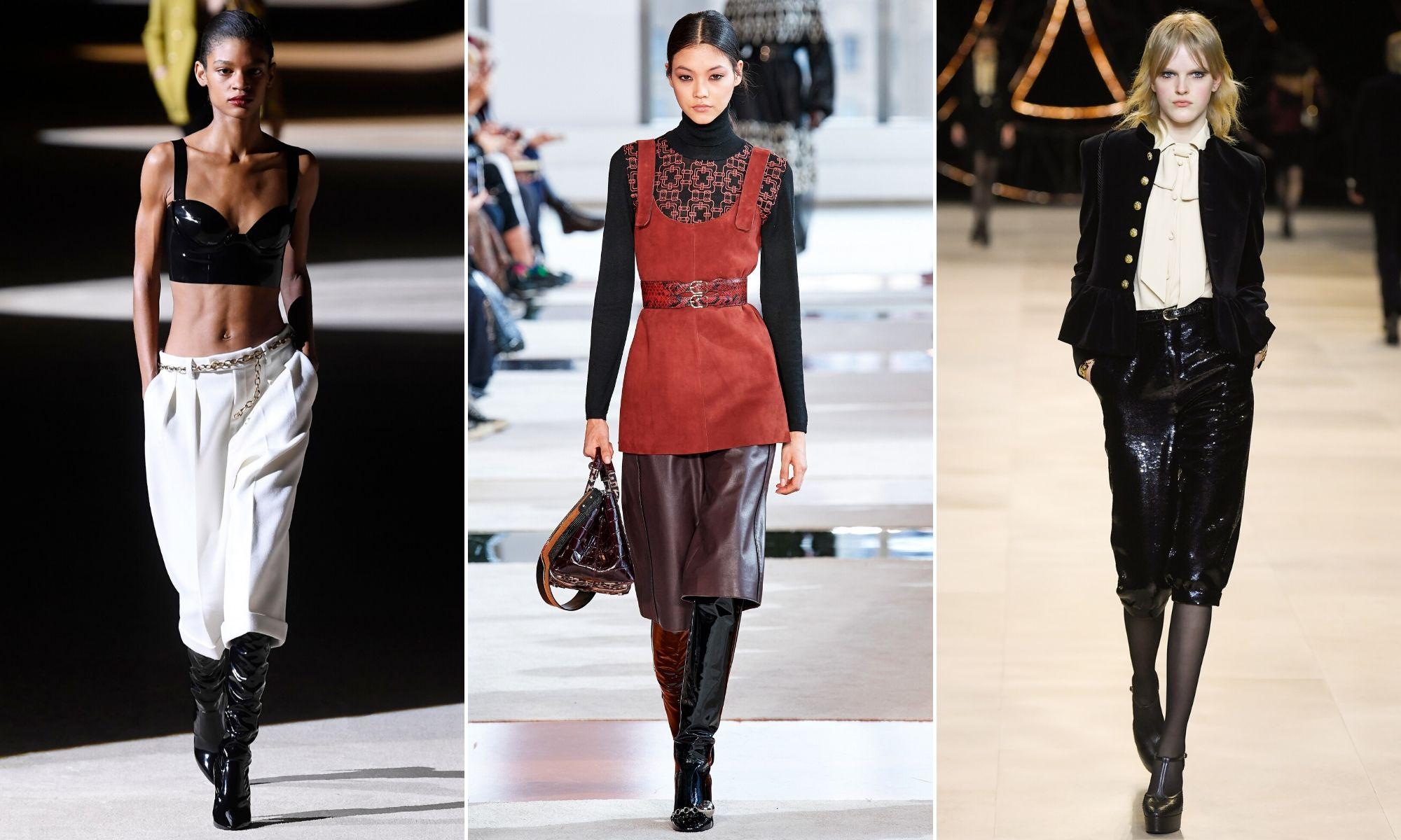 xu hướng thời trang 2020 thu đông saint laurent longchamp celine