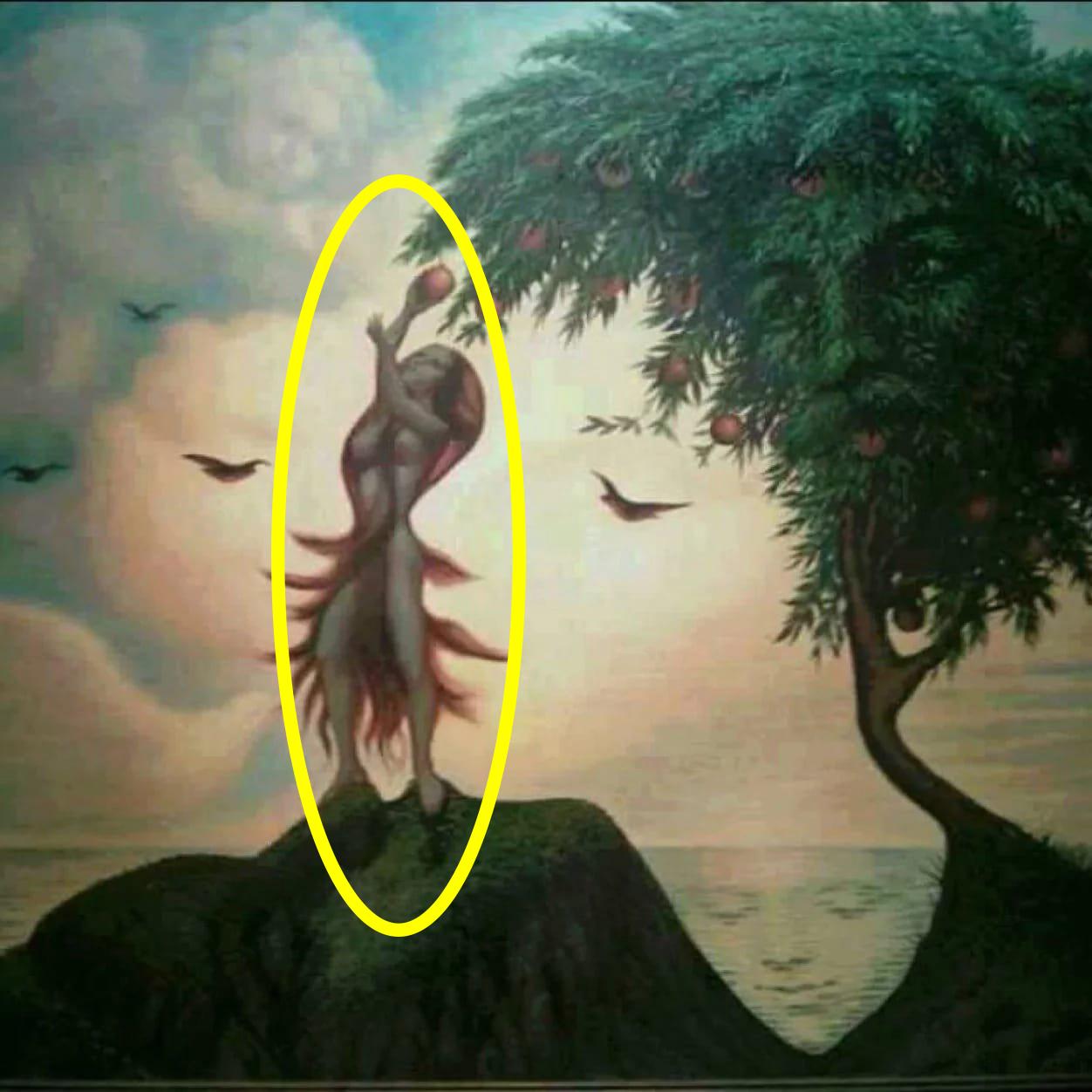hình ảnh người phụ nữ hái trái cây