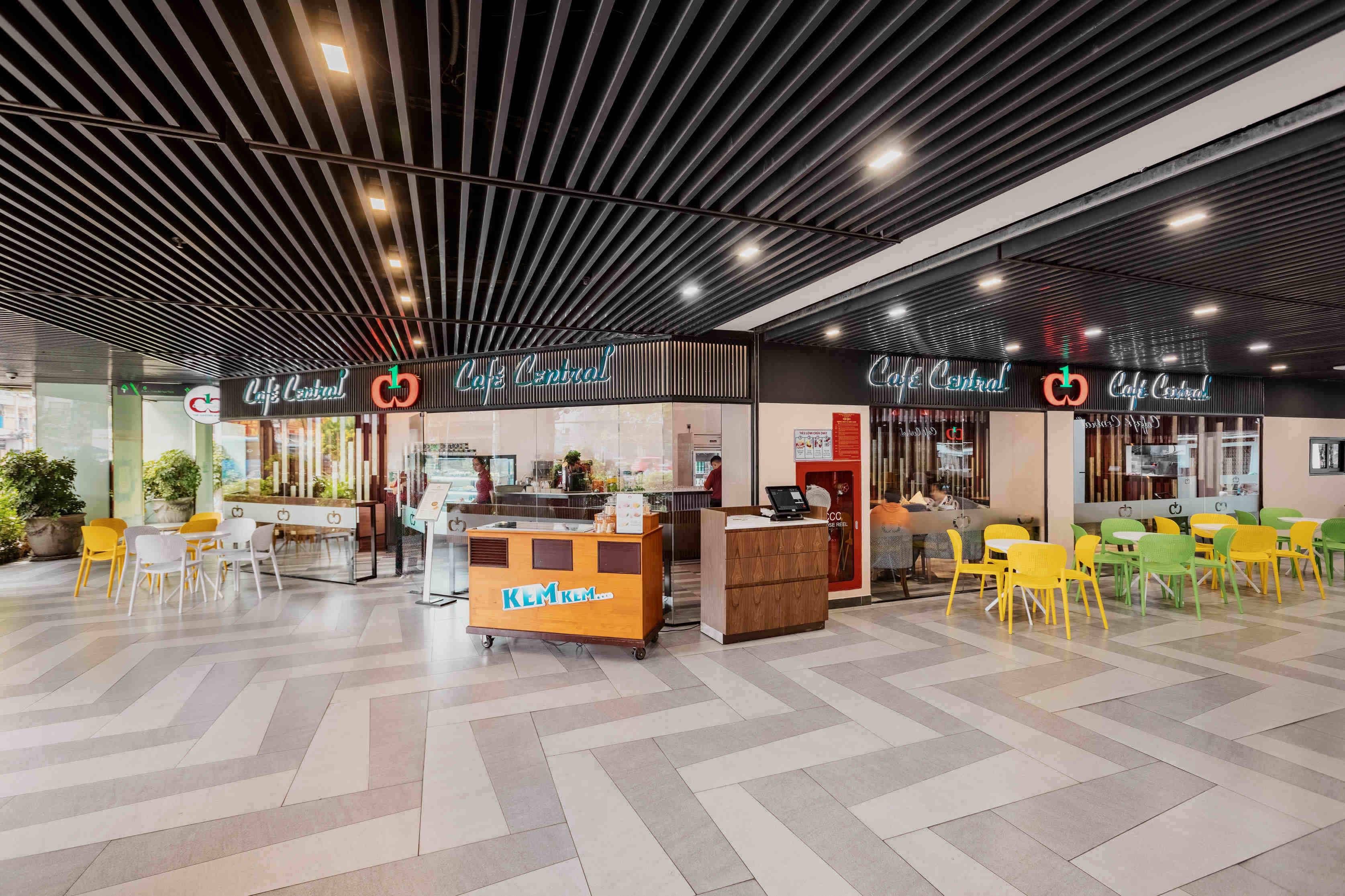 nhà hàng café central the garden mall