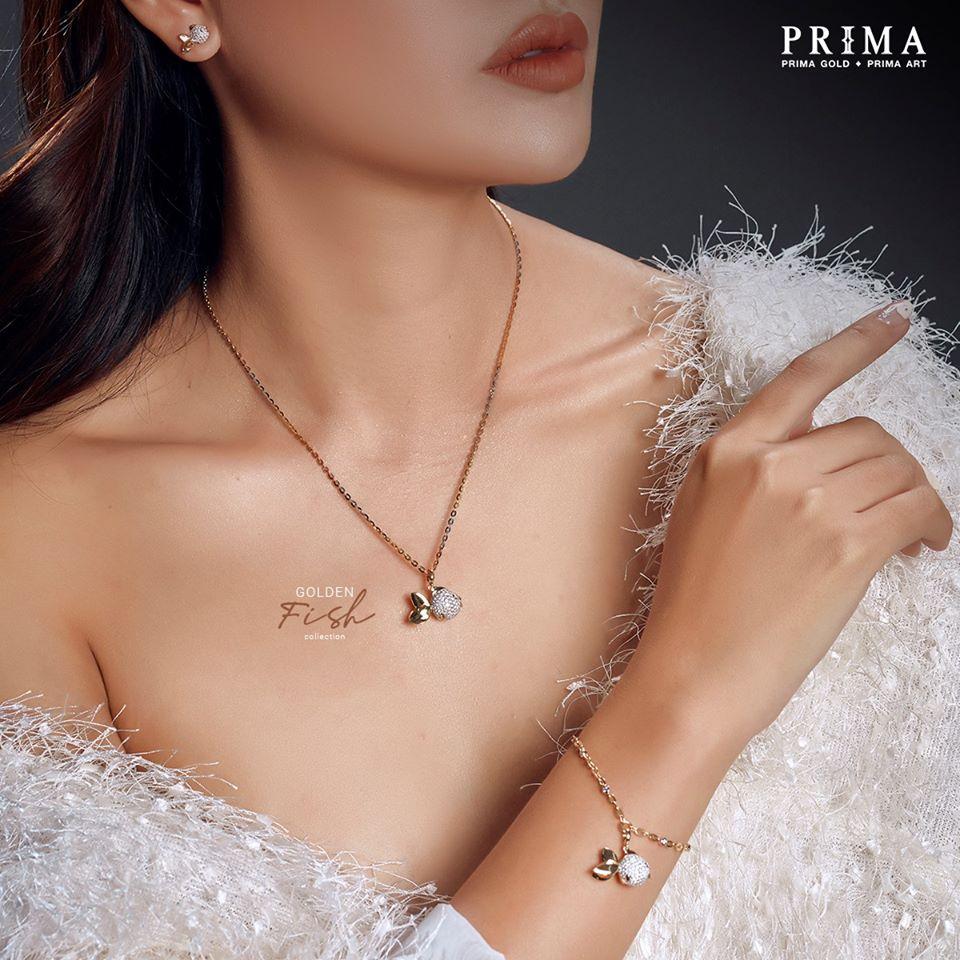 trang sức prima fine jewelry 18k kim cương bst golden fish