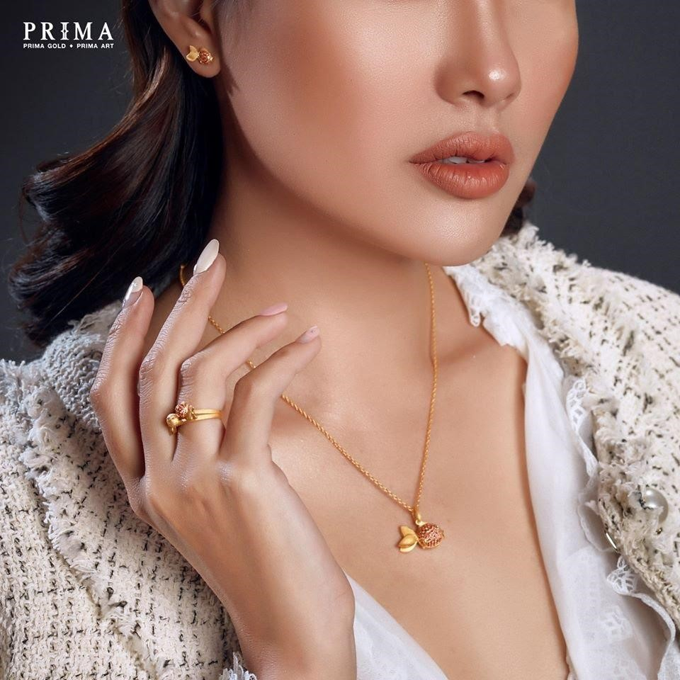trang sức prima fine jewelry bst golden fish 24k đá màu