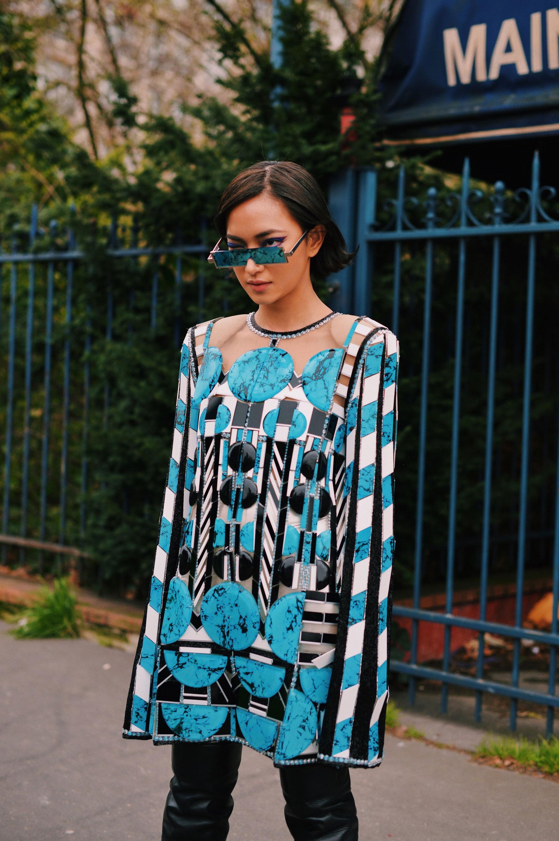 Street style ấn tượng của Châu Bùi tại tuần lễ thời trang Paris