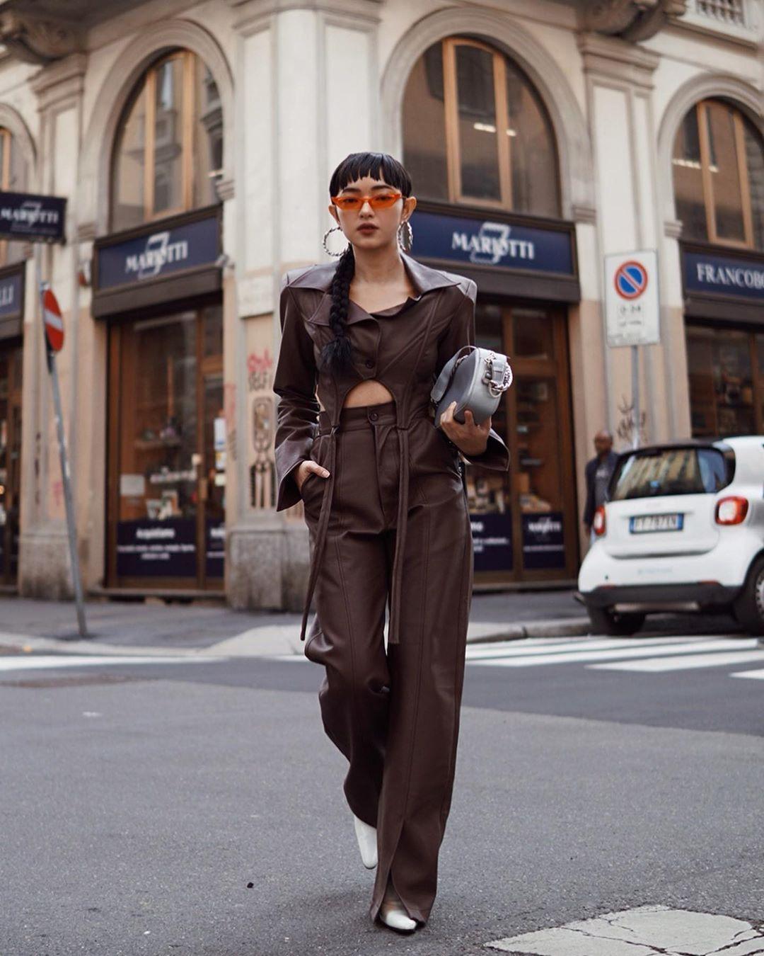 Street style của Châu Bùi tại tuần lễ thời trang Milan