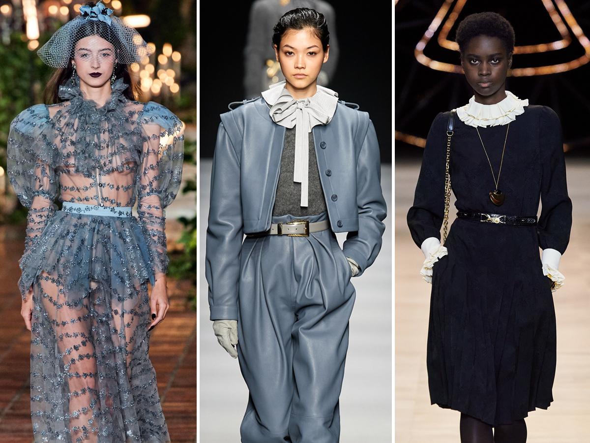 Xu hướng cổ áo xếp bèo tại Tuần lễ thời trang Thu - Đông 2020