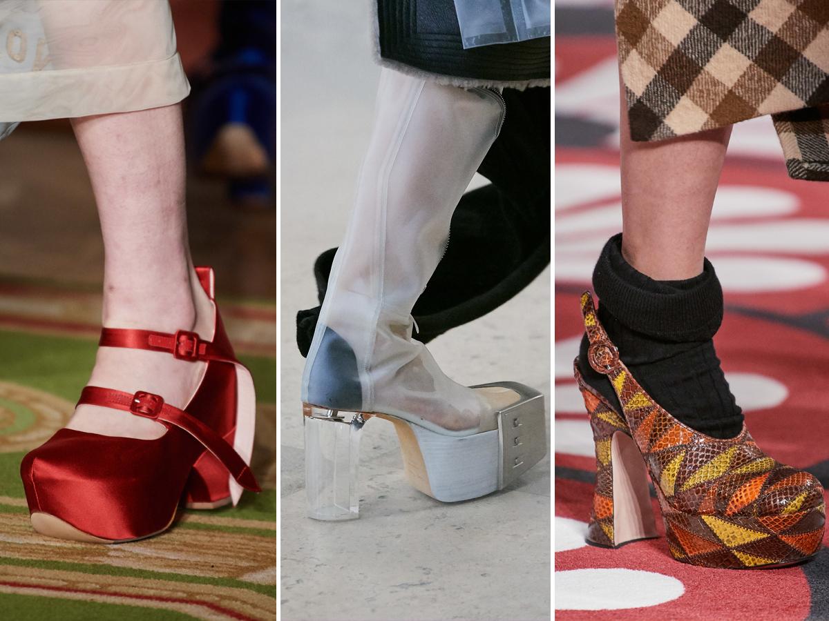 Xu hướng giày đế thô từ Tuần lễ thời trang Thu - Đông 2020