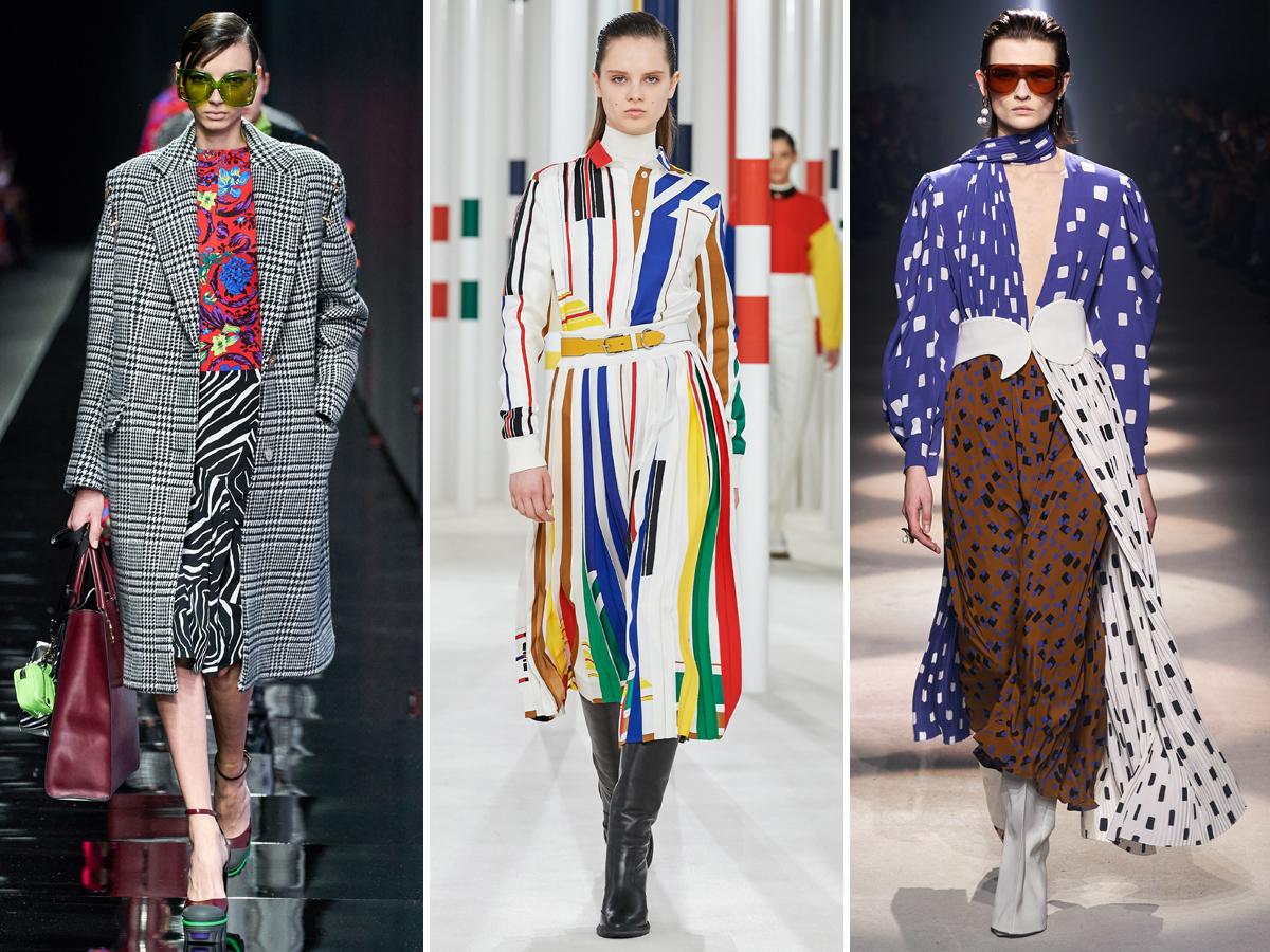 Xu hướng phối hợp họa tiết từ Tuần lễ thời trang Thu - Đông 2020