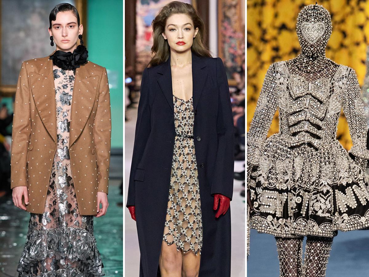 Xu hướng đính ngọc trai từ tuần lễ thời trang Thu - Đông 2020