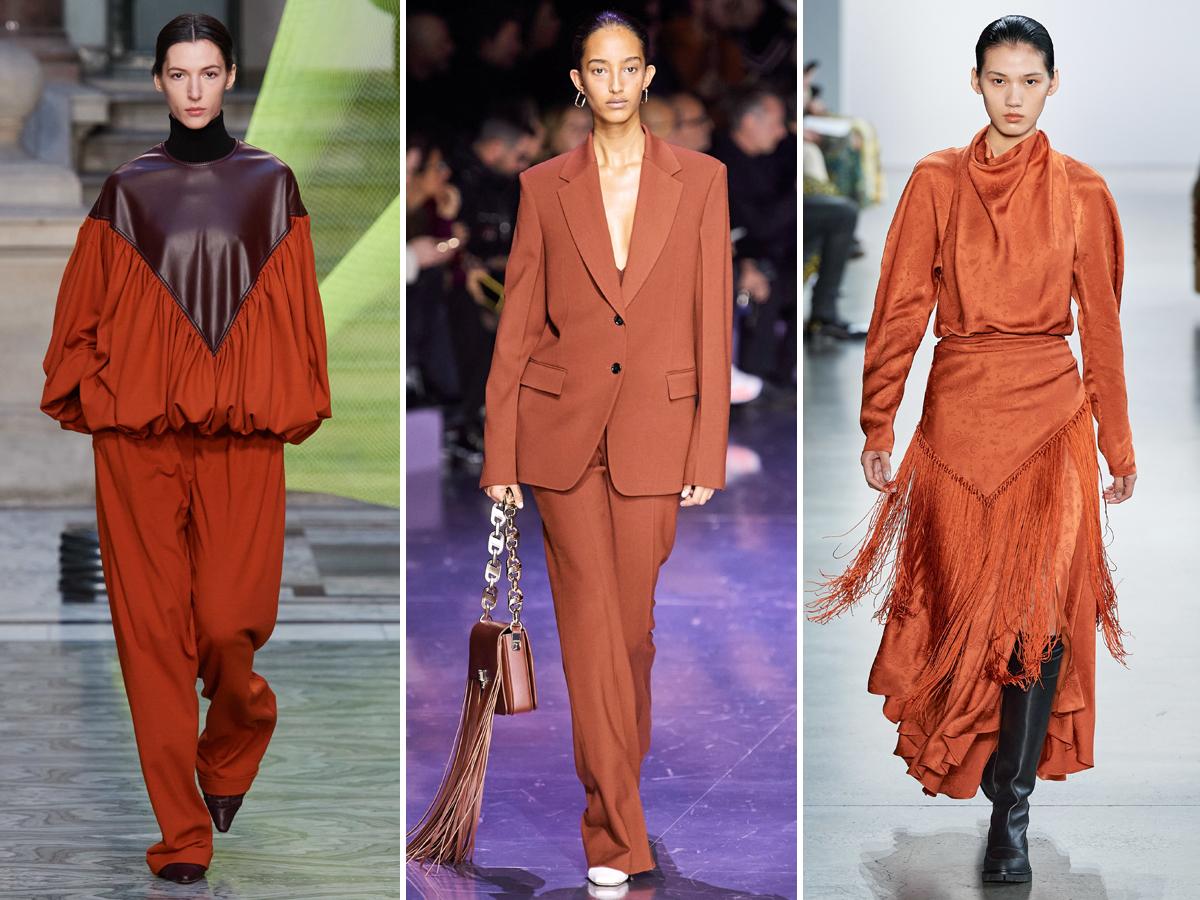 Xu hướng màu cam cháy từ Tuần lễ thời trang Thu - Đông 2020