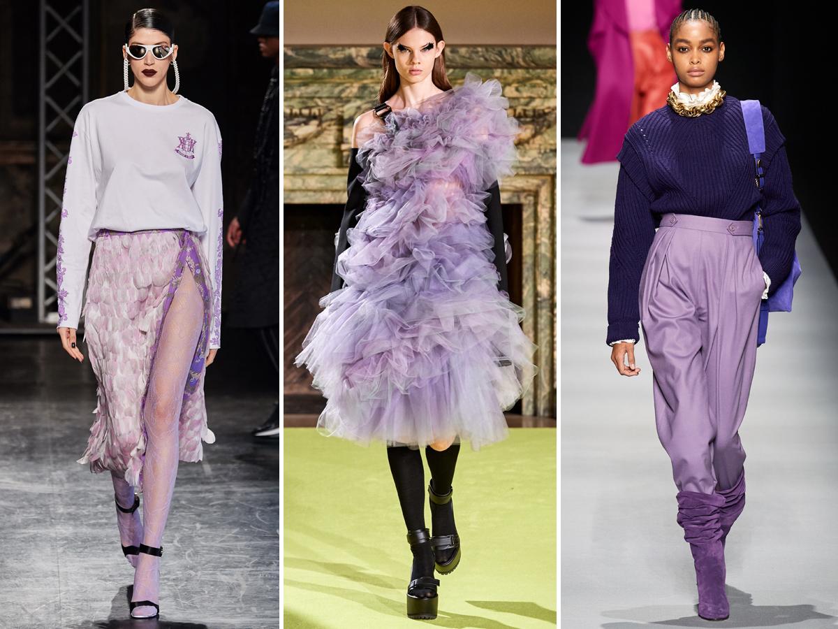 Xu hướng màu tím lilac từ Tuần lễ thời trang Thu - Đông 2020