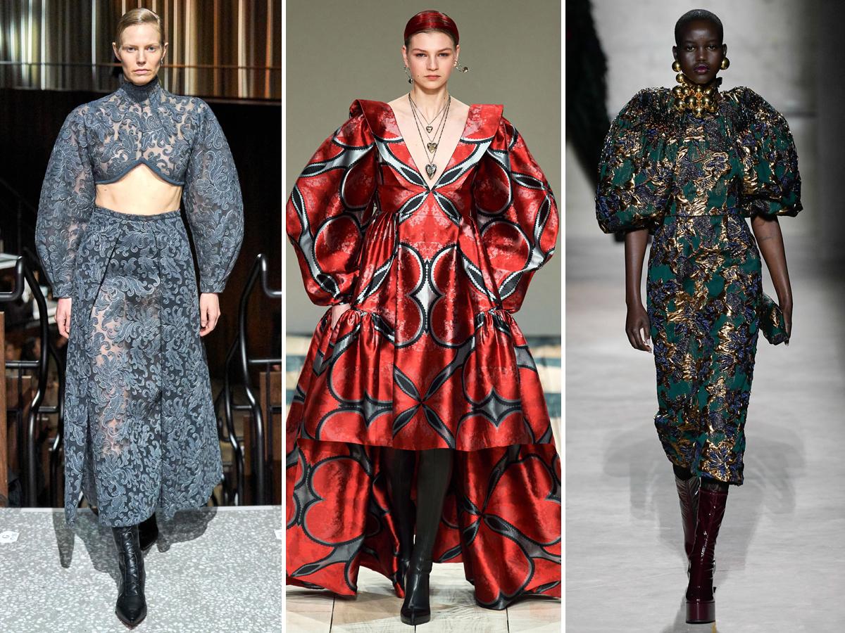 Xu hướng tay áo phồng từ Tuần lễ thời trang Thu - Đông 2020