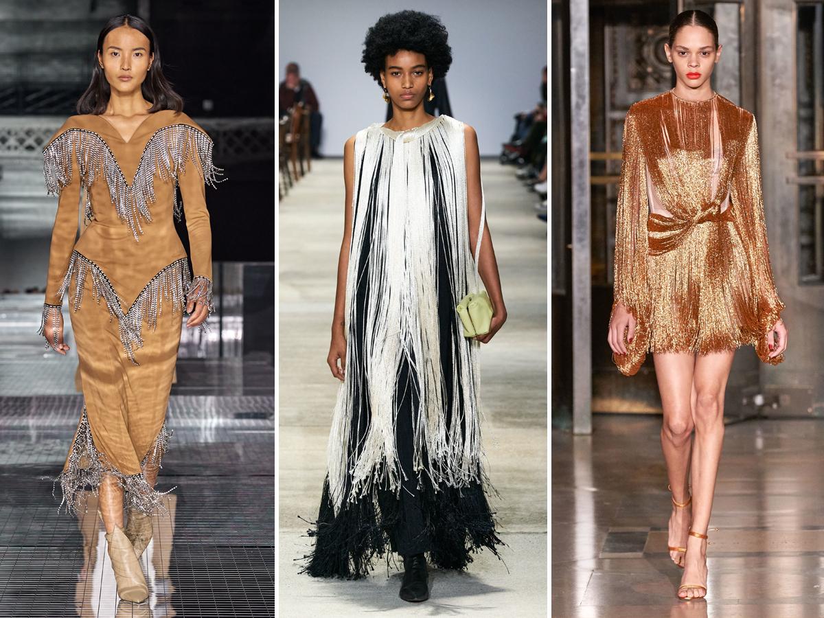 Xu hướng chi tiết tua rua từ Tuần lễ thời trang Thu - Đông 2020