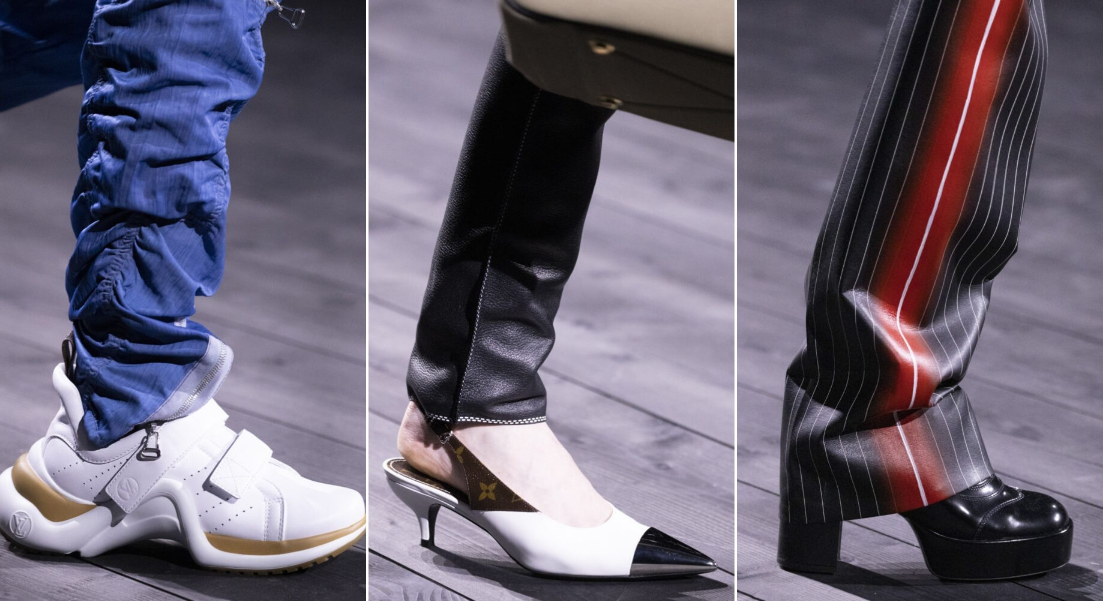 bst louis vuitton thu đông 2020 phụ kiện giày