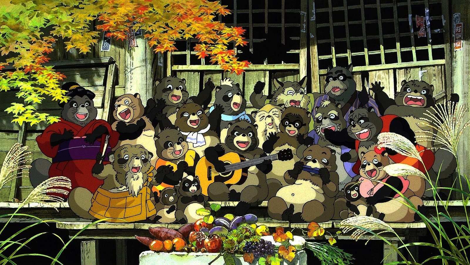 phim hoạt hình Cuộc Chiến Gấu Mèo Studio Ghibli