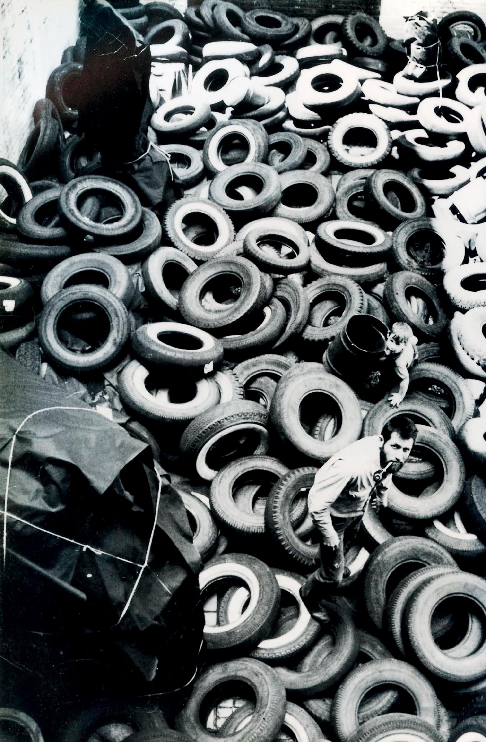 sáng tạo tác phẩm khu vườn lốp xe
