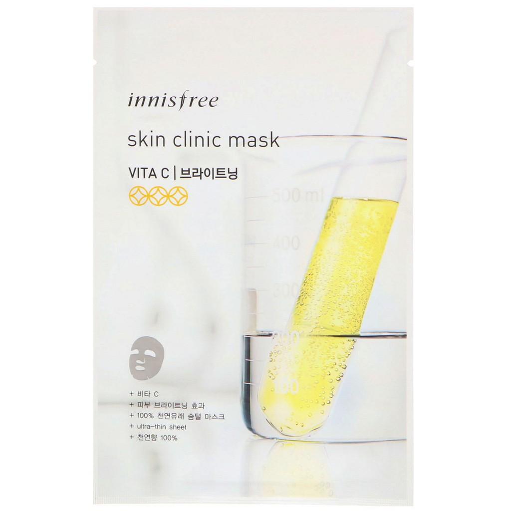 mặt nạ giấy innisfree clinic sáng da vita c