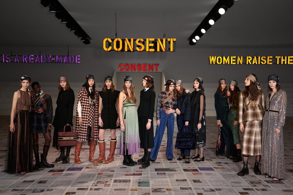 tin thời trang bst dior thu đông 2020 tinh thần nữ quyền