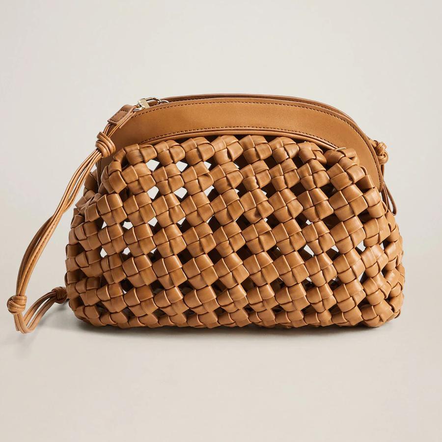 Túi xách đan móc da nhân tạo của Mango