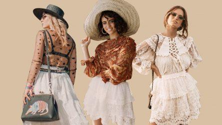 Biến hóa phong cách Bohemian với chân váy ren