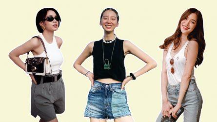 Học mỹ nhân châu Á cách phối đồ đẹp với tank top