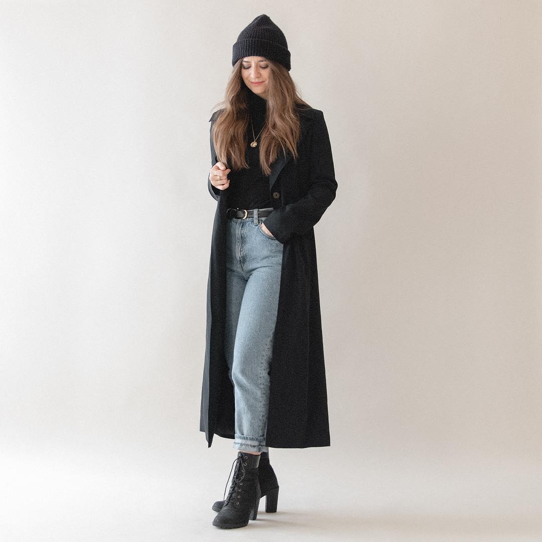 cách mặc đẹp với quần jeans xắn gấu và áo khoác cho cô nàng thấp bé