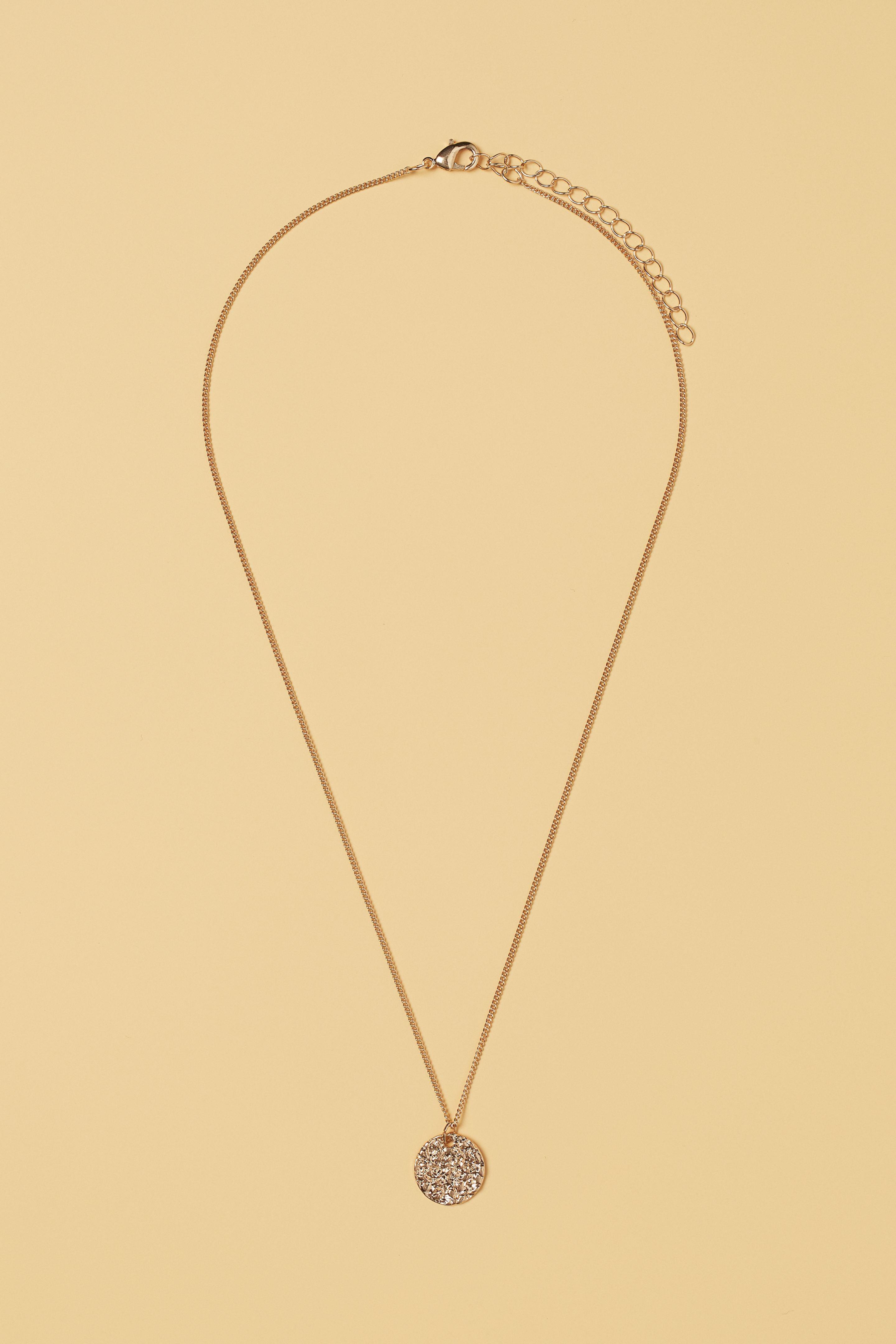 Dây chuyền mảnh dáng dài mặt tròn của H&M