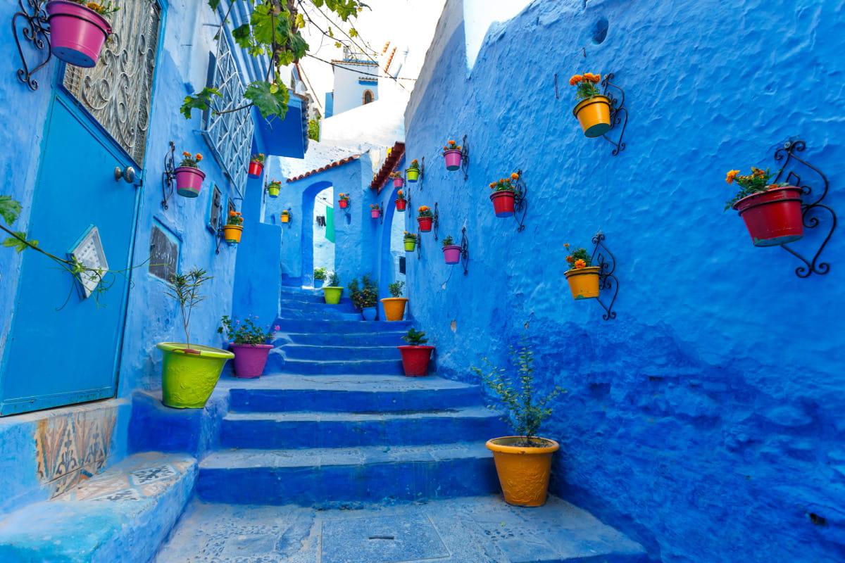 khu phố màu xanh chefchaouen