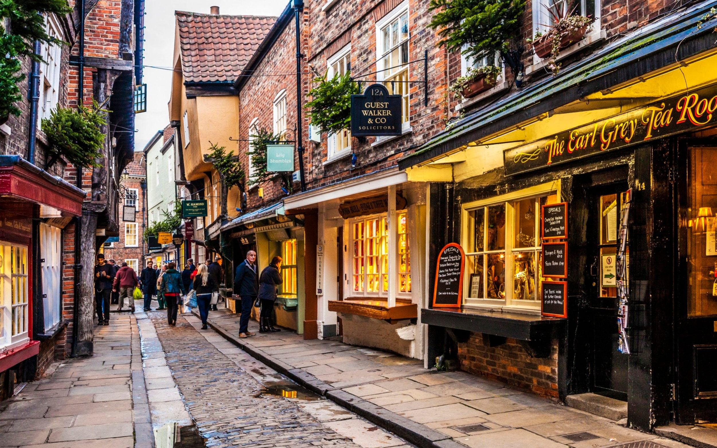 khu phố cổ kính ở York