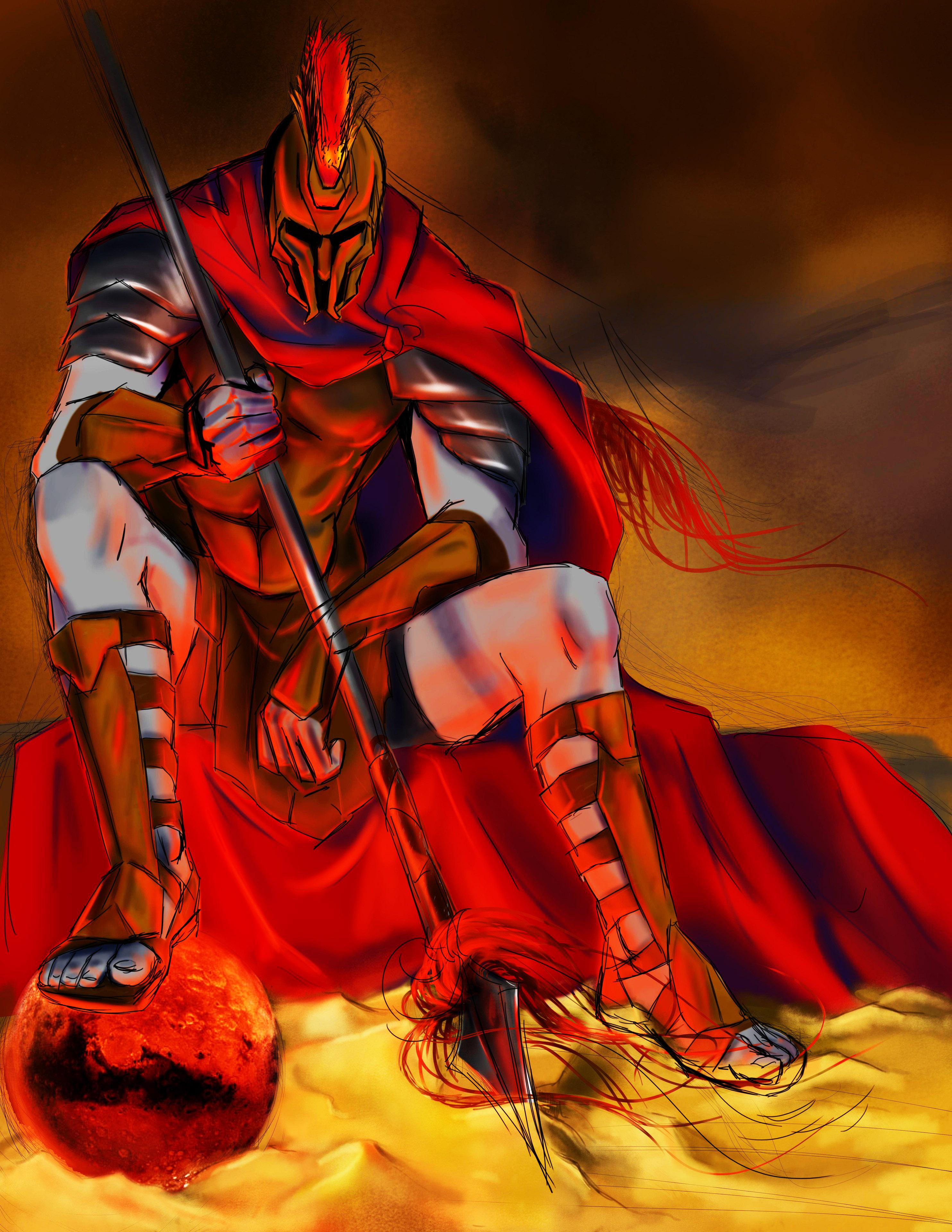 cung hoàng đạo Bạch Dương thần chiến tranh