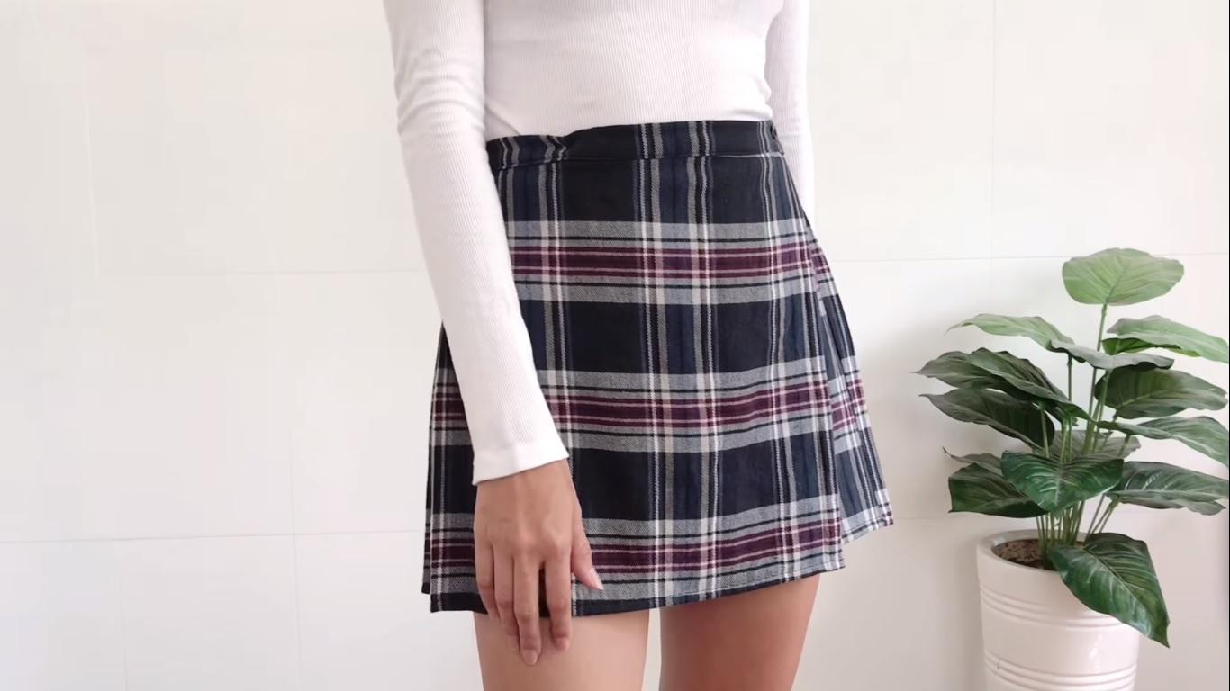 chan váy từ áo sơmi thành phẩm