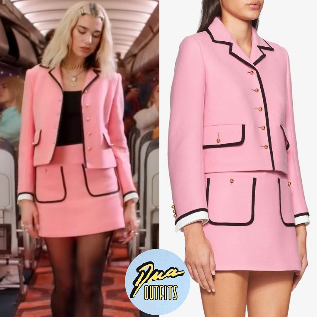 Dua Lipa mặc suit hồng của Miu Miu trong MV Break My Heart