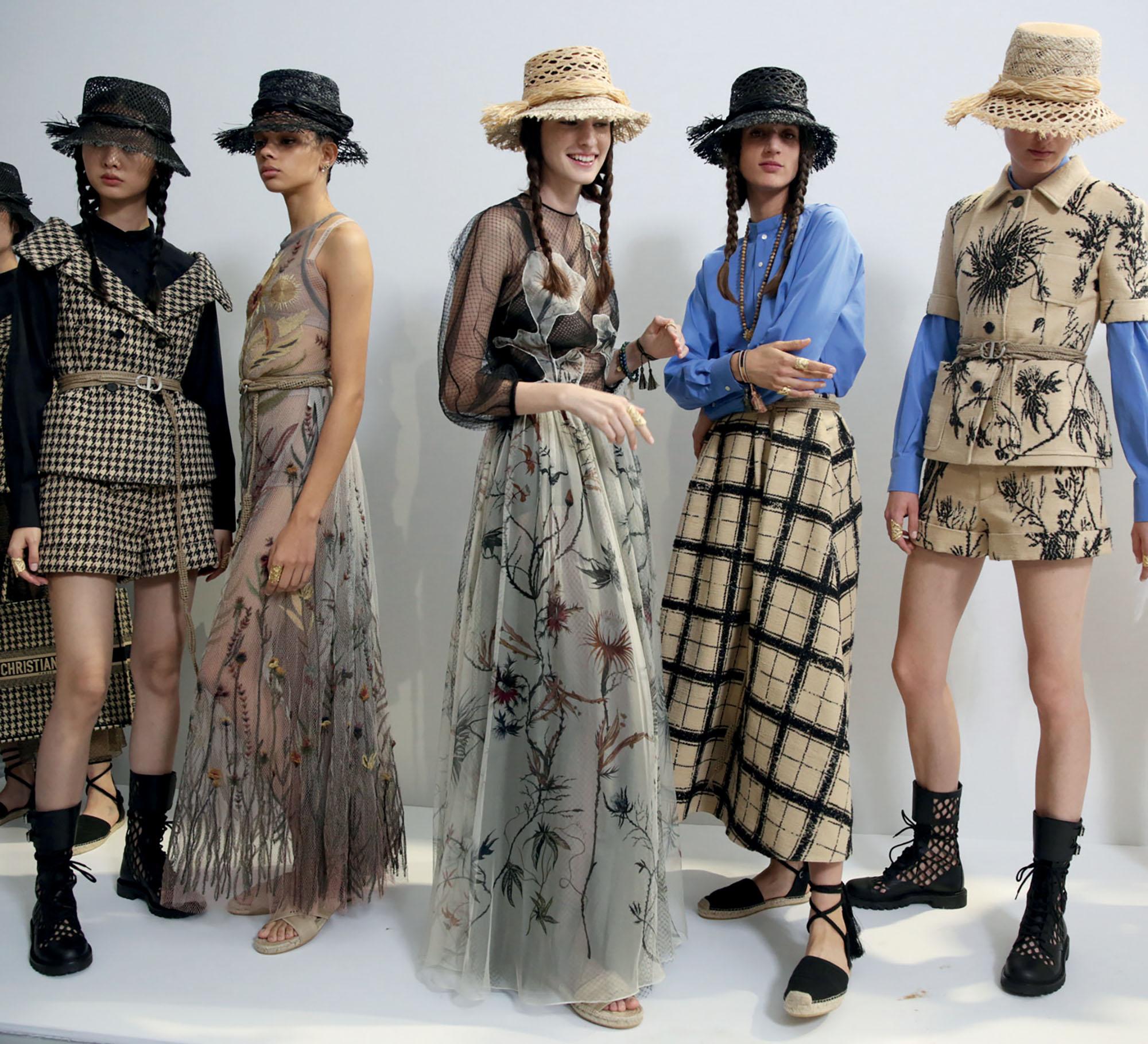 hậu trường dàn mẫu Dior