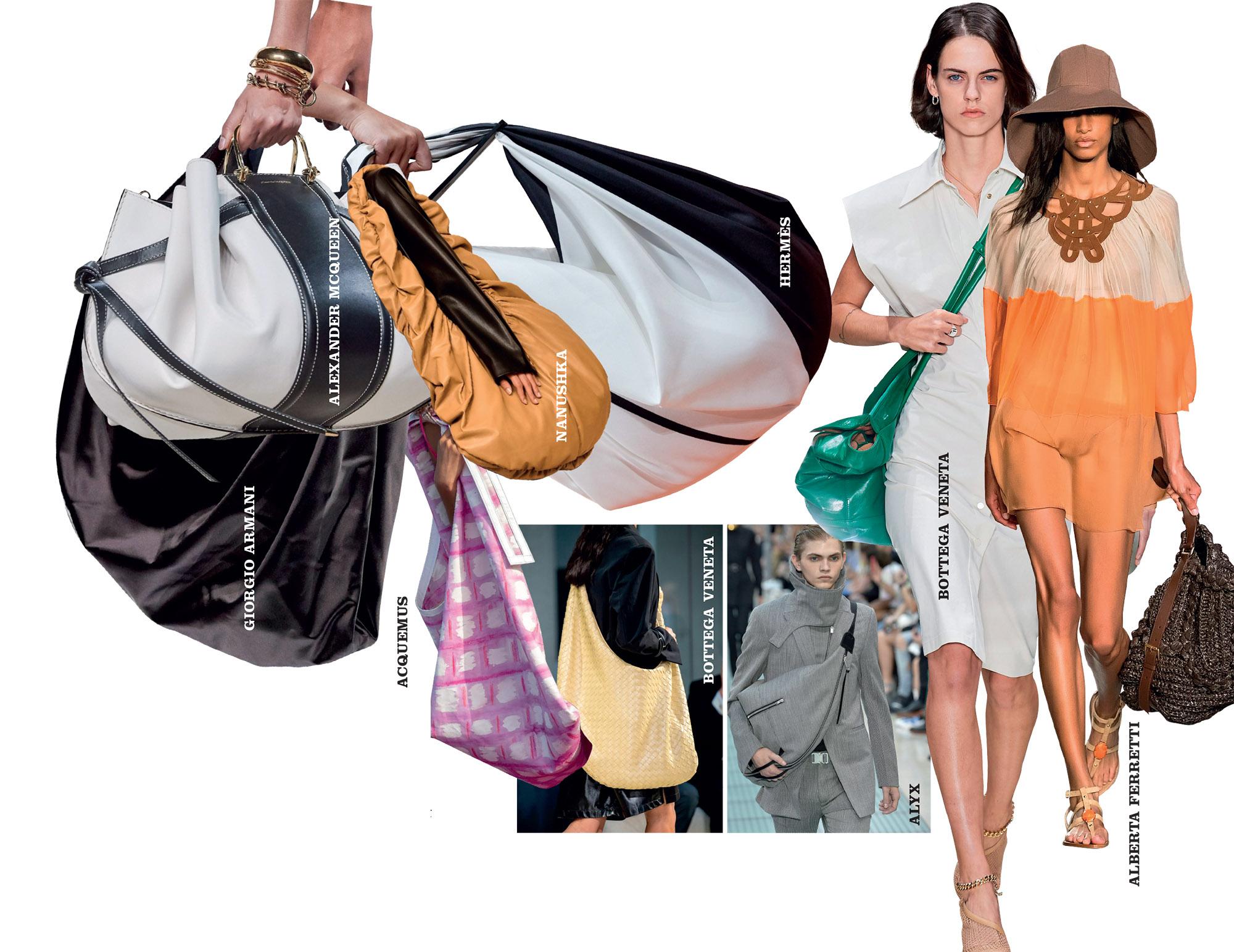 những chiếc túi cực đại trên sàn diễn thời trang xuân hè 2020