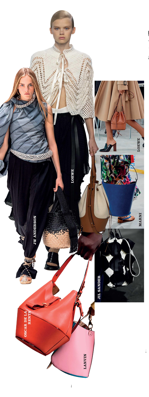 túi bucket là xu hướng phụ kiện thời trang xuân hè 2020
