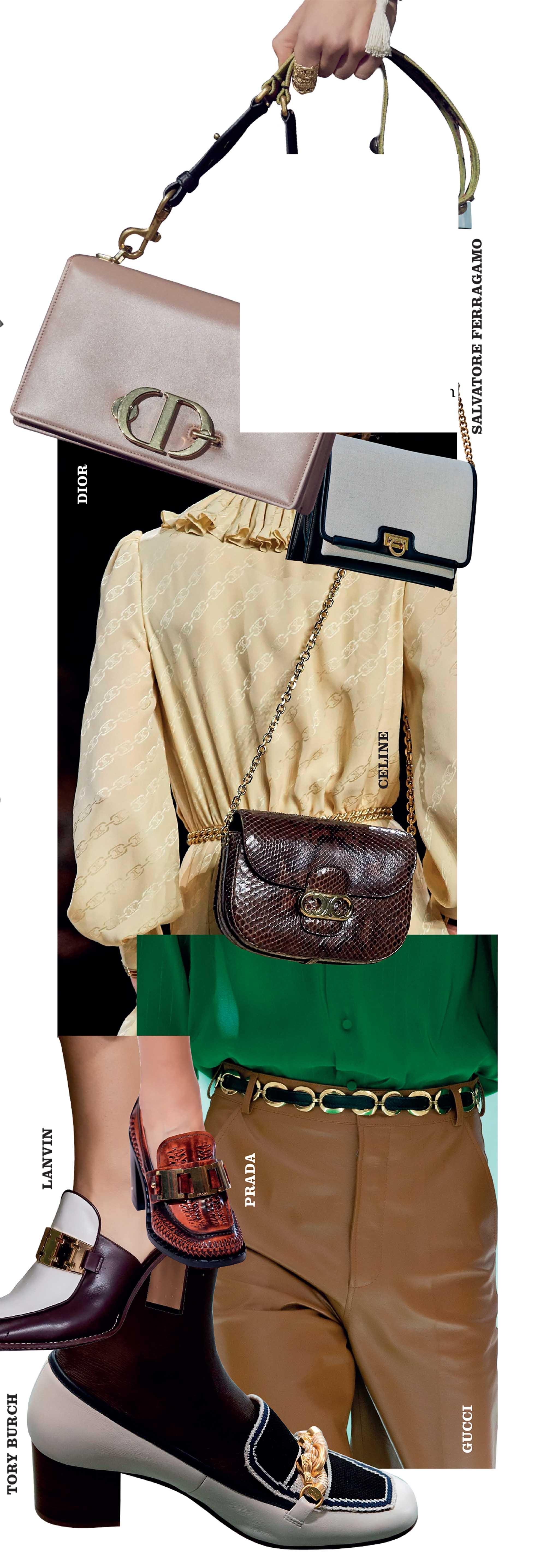 túi có khóa cài chắc chắn trong BST thời trang Xuân Hè 2020