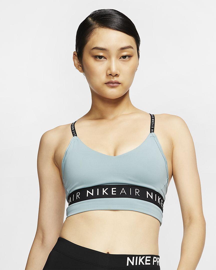 Áo bra thể thao Nike màu xanh da trời dành cho tập Yoga