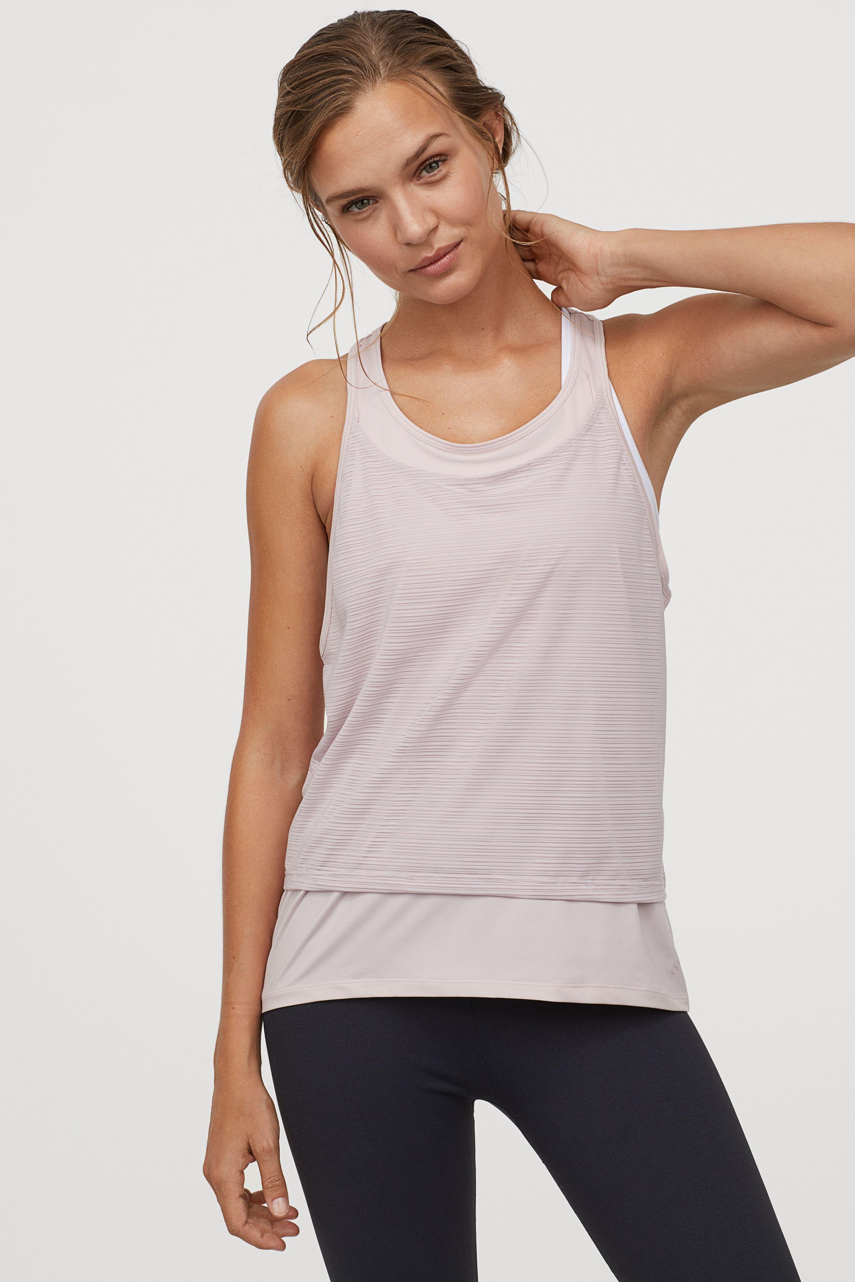 Áo ba lỗ thể thao H&M 2 lớp phù hợp cho tập Yoga