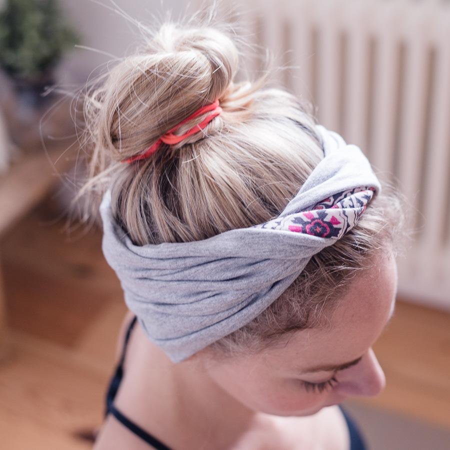 Băng đô và dây buộc tóc vải cố định tóc khi tập Yoga