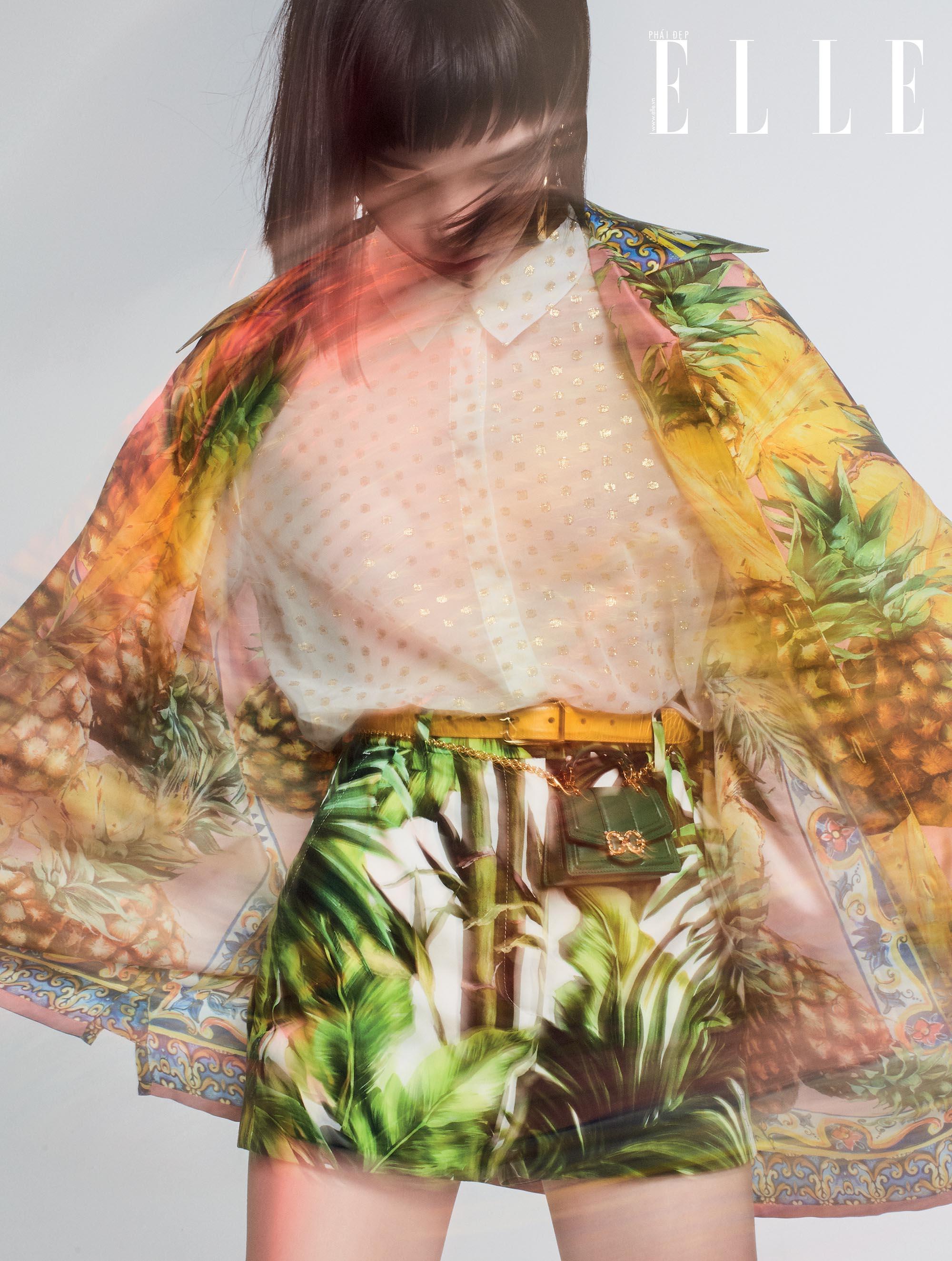 cách mặc đẹp với họa tiết nhiệt đới mùa Hè Dolce & Gabbana