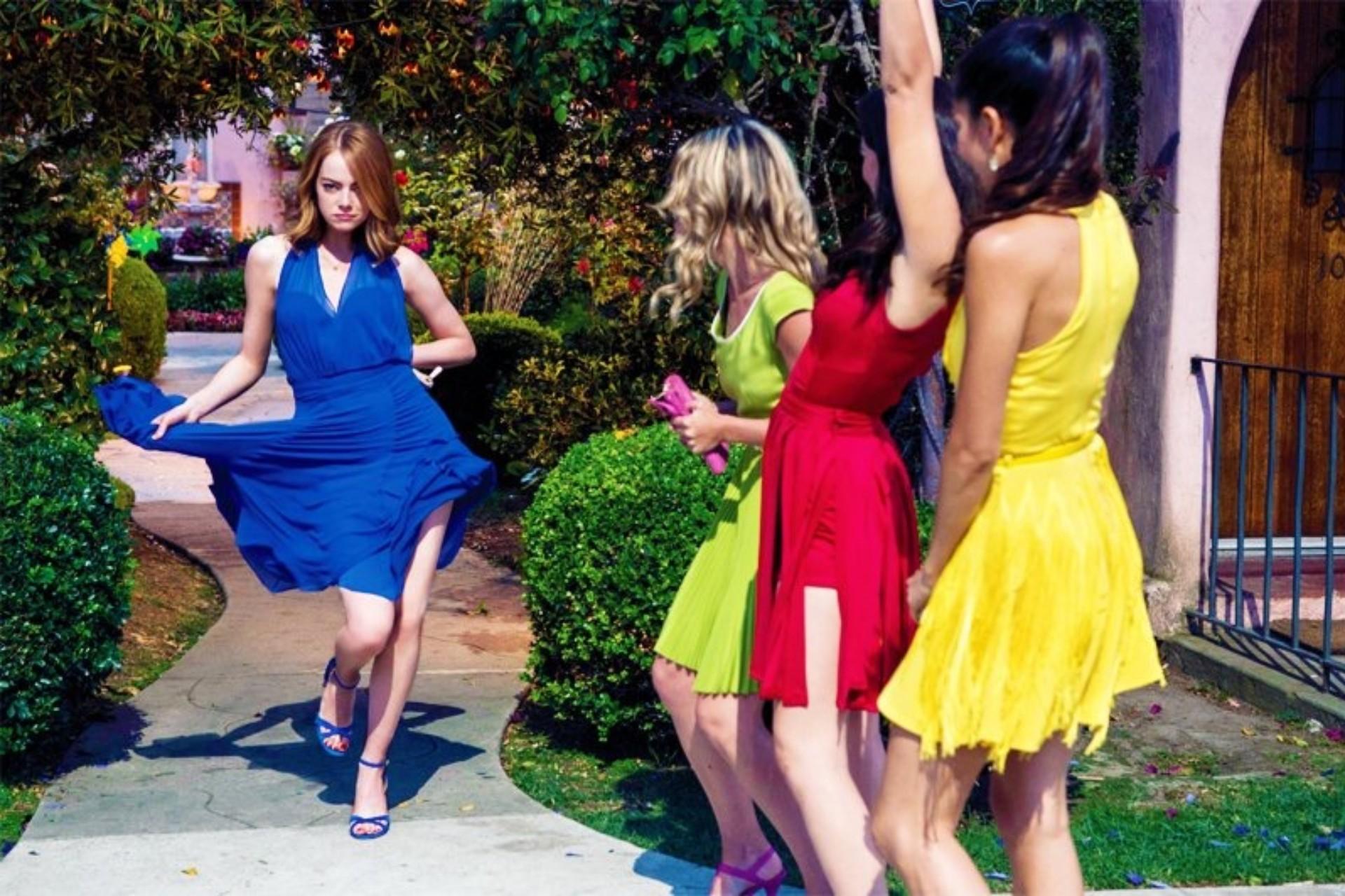thời trang phim la la land 4 bộ đầm khác màu