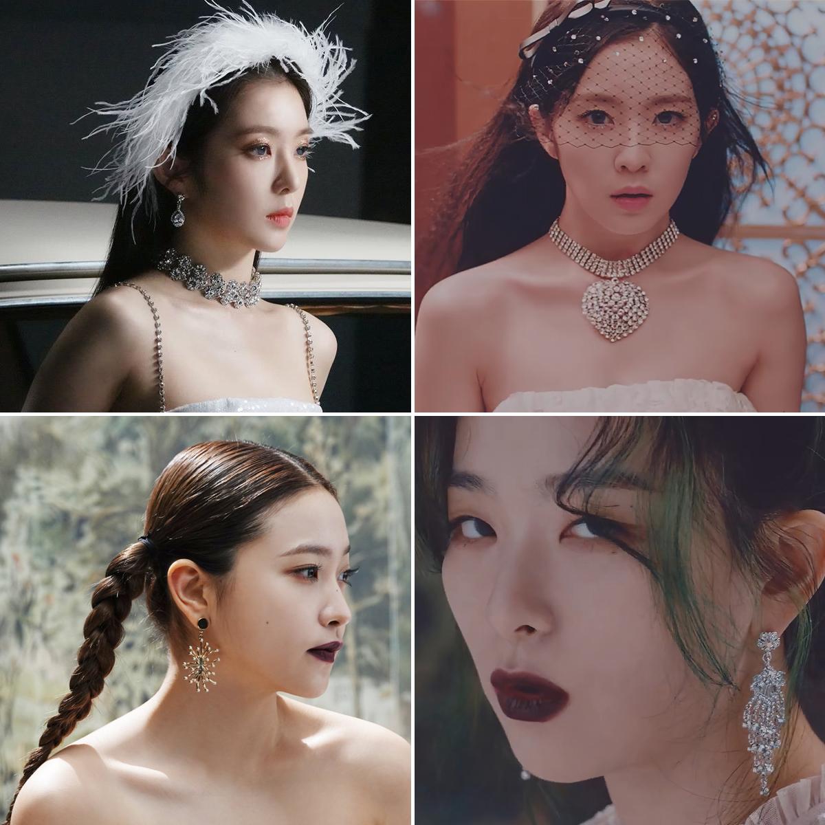 Red Velvet đeo trang sức cầu kỳ trong MV nhạc KPOP Psycho