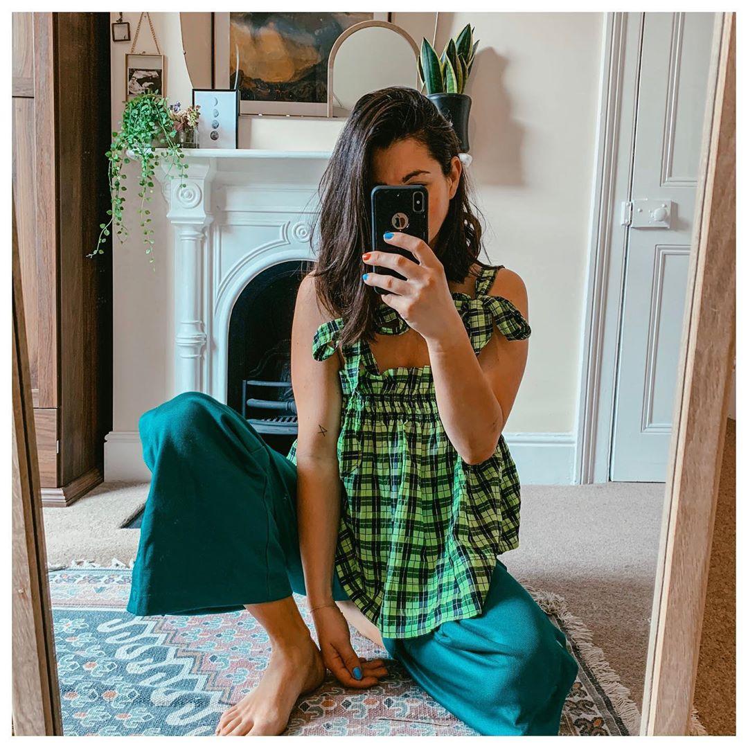 thử thách instagram cầu vồng màu xanh lá