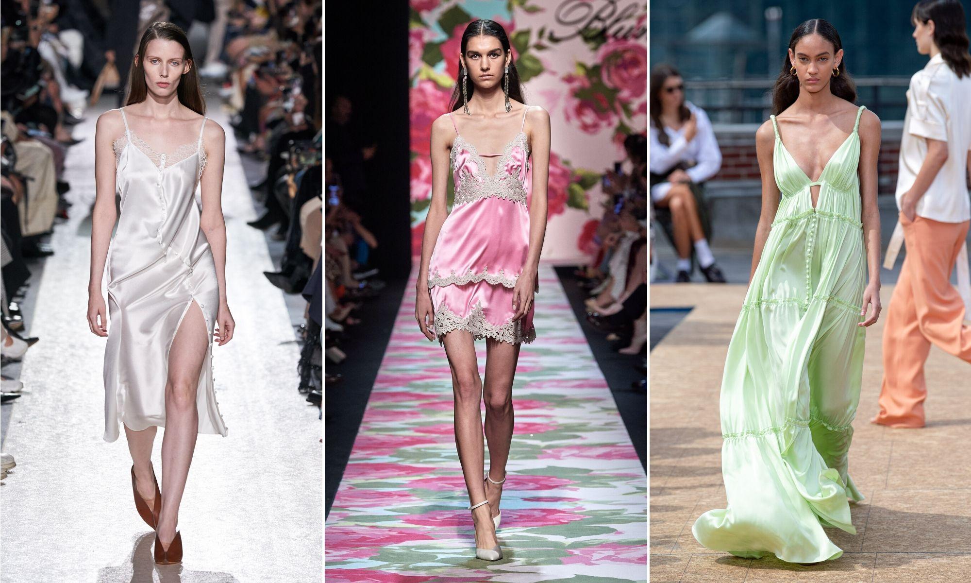 đầm slip dress phong cách retro xuân 2020