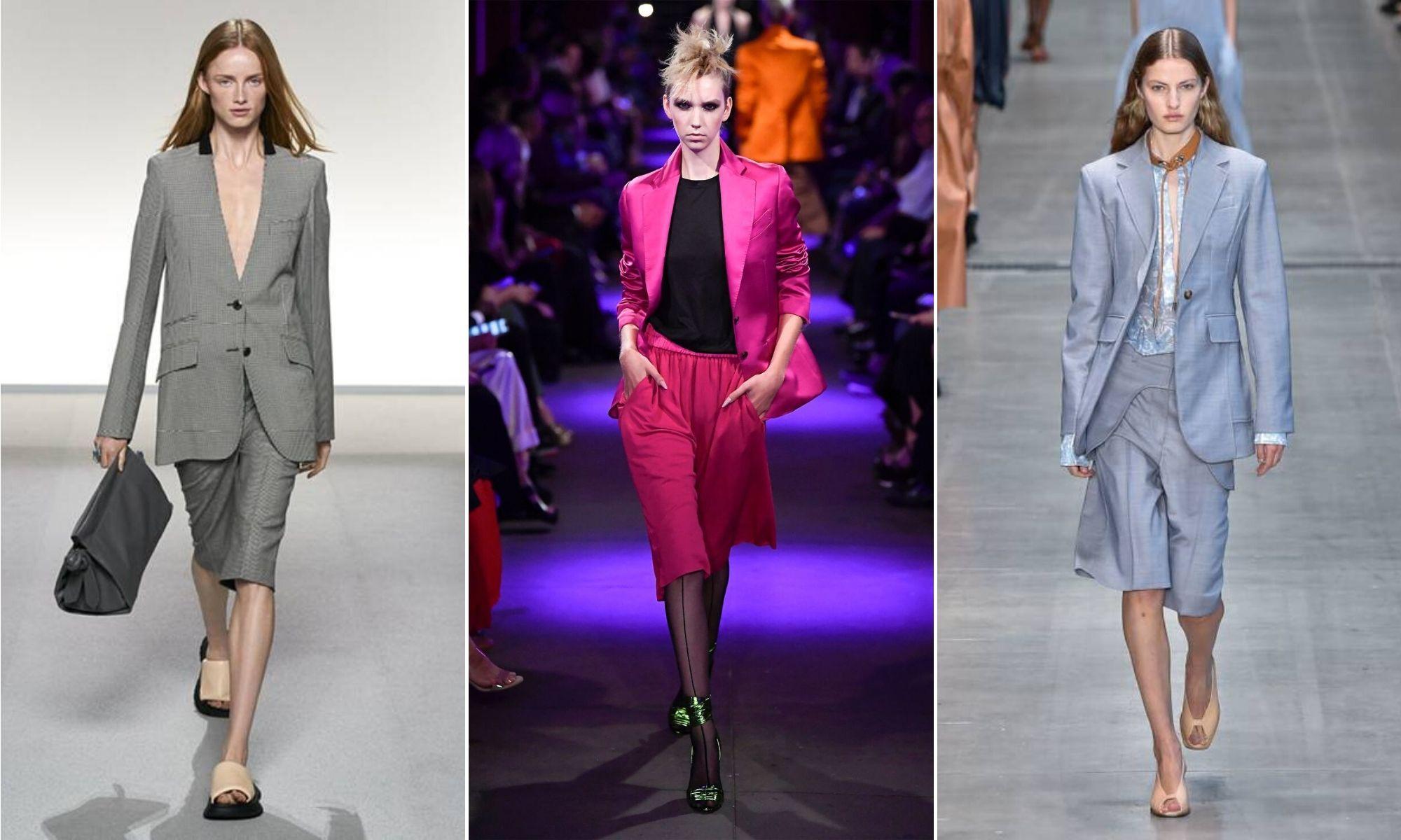 quần bermuda phong cách retro xuân 2020